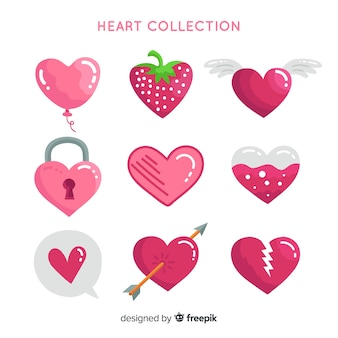 Hand drawn heart collection