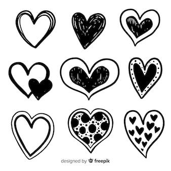 Hand drawn heart pack