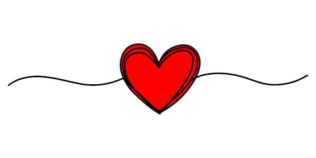 얇은 선, 분배기 모양, 흰색 배경에 고립 된 얽힌 지저분한 라운드 낙서 손으로 그린 심장. 벡터 일러스트 레이 션