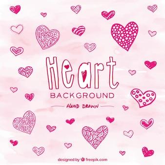 Фон ручной обращается сердца