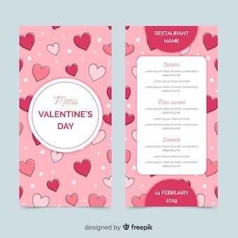 Ручной обращается сердца Валентина меню