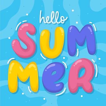 Рисованной привет лето надписи
