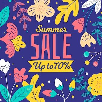 Hand drawn hello summer sale