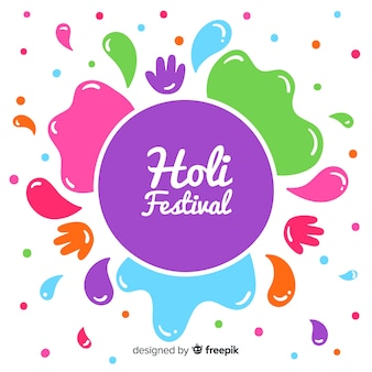 Hand drawn holi festival background