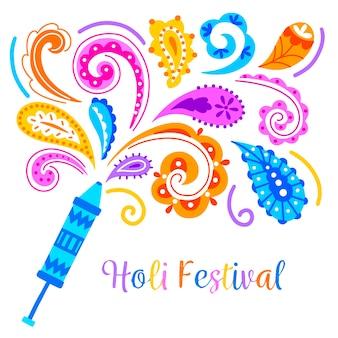 Hand drawn holi festival