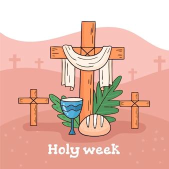手描きの聖週間