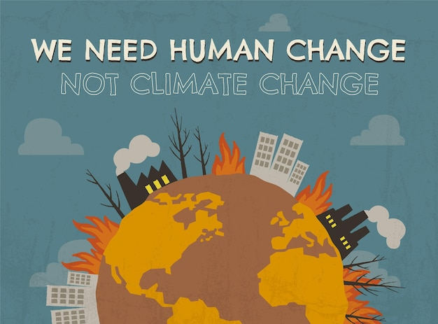 Post di facebook di cambiamento umano disegnato a mano