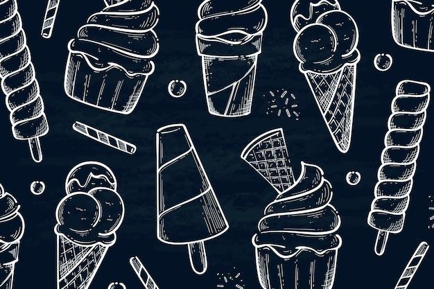 Ручной обращается мороженое доске фон