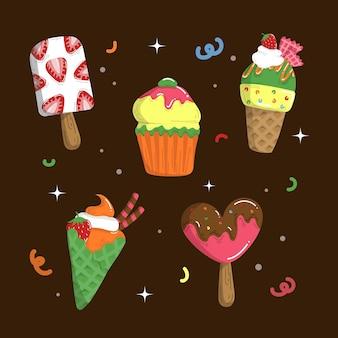 Hand drawn ice cream collection