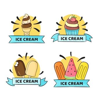 Вручите оттянутые этикетки мороженого