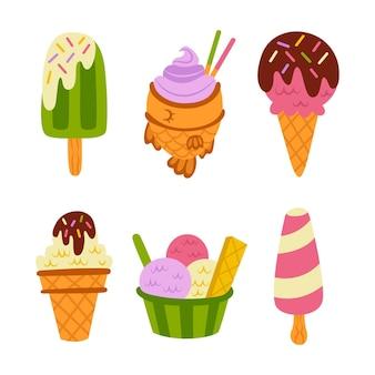 手描きのアイスクリームパック