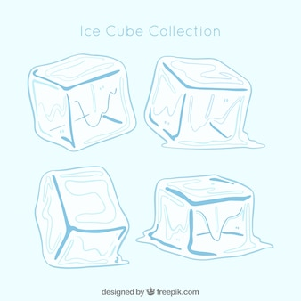 Hand drawn ice cube collection