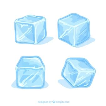 손으로 그린 아이스 큐브 컬렉션