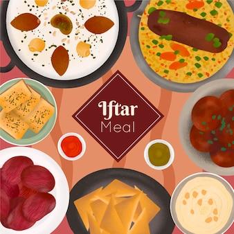 Коллекция рисованной ифтар
