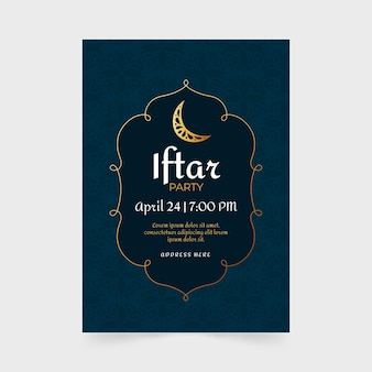 Ручной обращается шаблон вертикального плаката ифтара