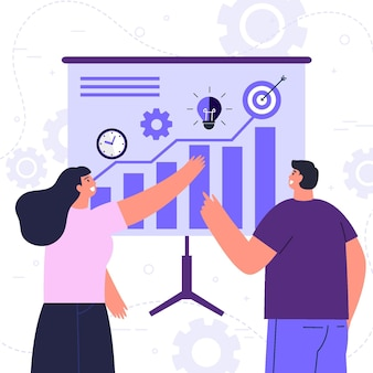 Concetto di strategia aziendale illustrato disegnato a mano