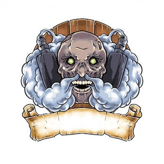 Рисованной иллюстрации темный зомби vape