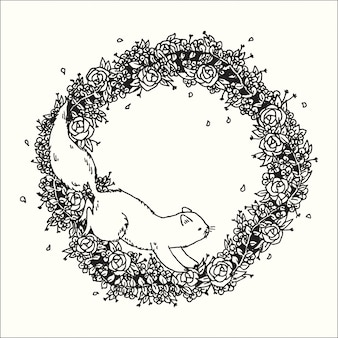 Hand drawn illustration of doodle abstract graphic art design fantasy collection.