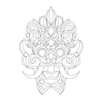 文化バリインドネシア語の手描きイラスト