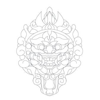 文化バリの手描きイラスト