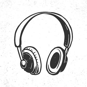 Рисованной иллюстрации наушников.