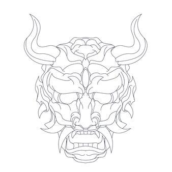 サタンの手描きイラスト