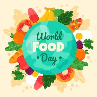 世界食糧デーイベントの手描きイラスト