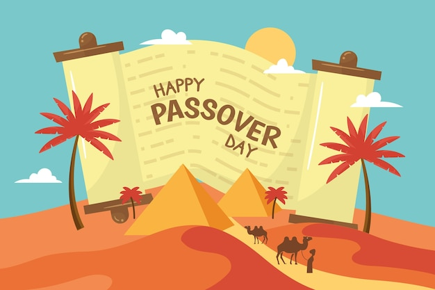 Hand drawn illustration of passover event