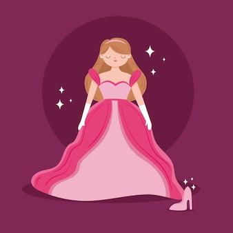 Hand drawn illustration of princess
