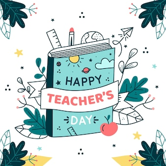 Hand drawn illustration of teacher's day event