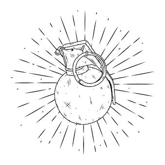 手g弾で描かれたイラストを手します。