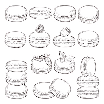 Hand drawn illustrations of paris cuisine.
