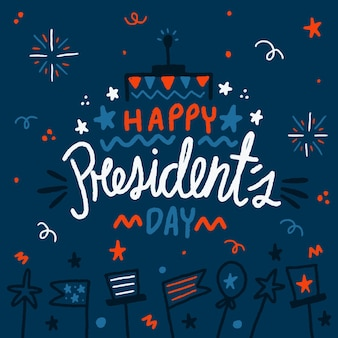 Hand drawn illustrations president's day