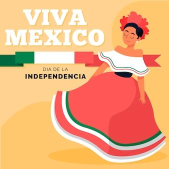 手描きメキシコの独立記念日