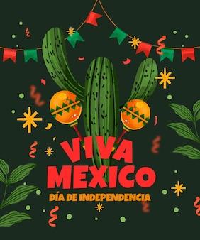 Ручной обращается фон независимости мексики