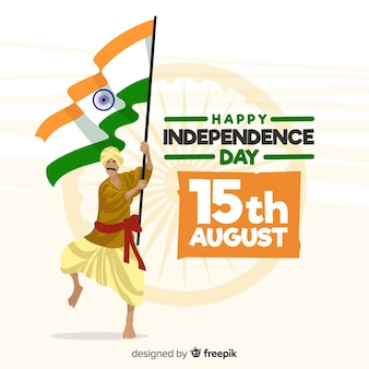 Hand drawn india independence day background