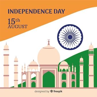 Fondo disegnato a mano dell'indipendenza dell'india
