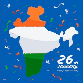 Hand drawn india republic day