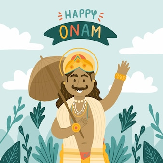 Hand drawn indian onam illustration