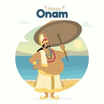 手描きのインドのオナムのイラスト