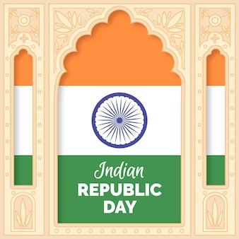 Festa della repubblica indiana disegnata a mano