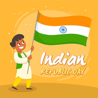 Hand drawn indian republic day