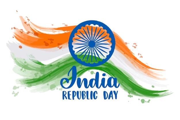 Hand drawn indian republic day
