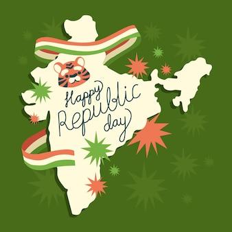 손으로 그린 인도 공화국의 날