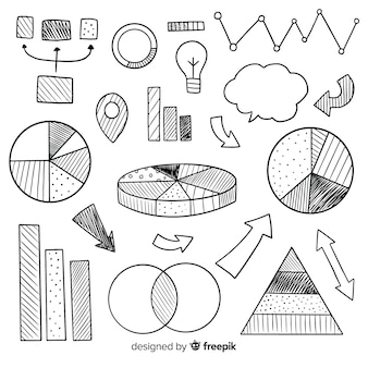 Hand drawn infographic element collection
