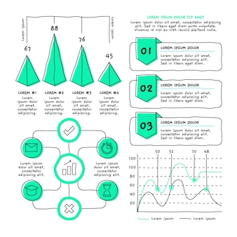 Hand drawn infographic element pack