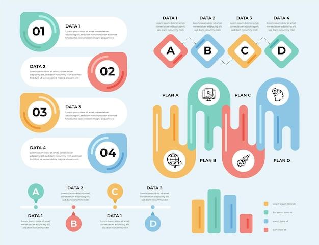 Коллекция рисованной инфографики