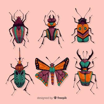 Коллекция рисованной насекомых Бесплатные векторы