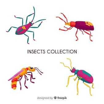 Коллекция рисованной насекомых