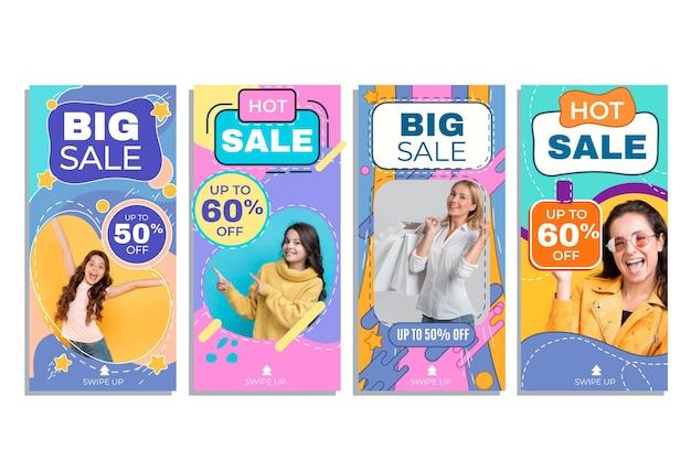 Коллекция историй продаж instagram с фото